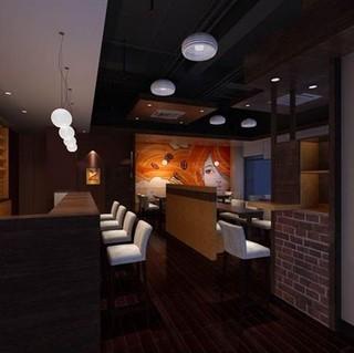 休闲咖啡厅室内装潢设计效果图片