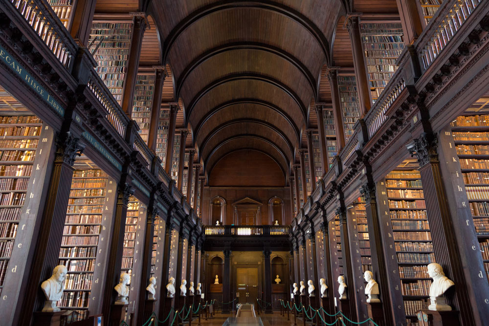 古典图书馆设计室内装修图片