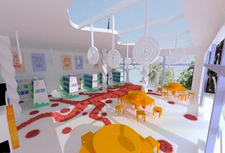 儿童图书馆设计室内装修图片