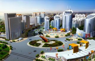 城市广场设计方案效果图