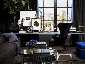 大气黑色空间 90平米单身公寓装修