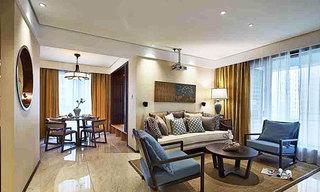 新中式风格两室一厅舒适设计图