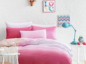 2017渐变色床品设计 给卧室增添浪漫气息