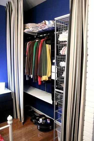 布帘衣柜效果图