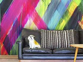 11个客厅手绘背景墙 开启墙饰新时代