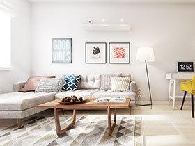 简洁北欧波普风 混搭公寓让空间鲜活起来