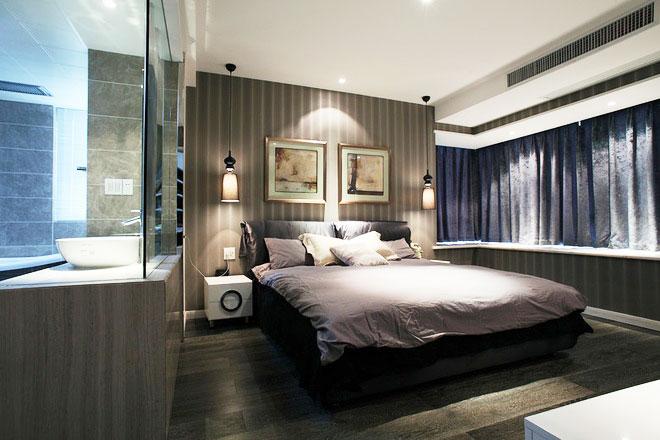 现代风格装修样板房卧室设计