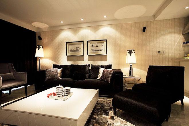 现代风格装修样板房客厅设计