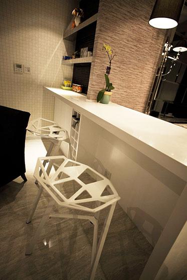 现代风格装修样板房吧台设计
