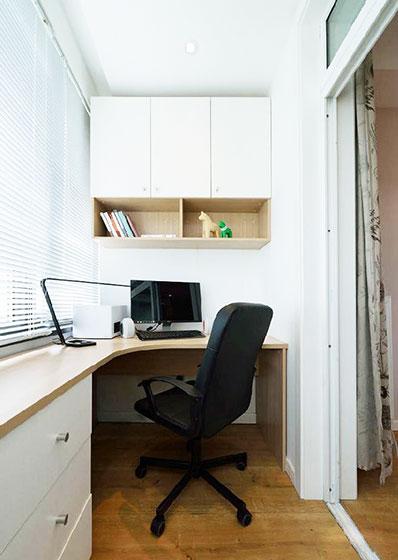 90平米房屋装修效果图工作区设计