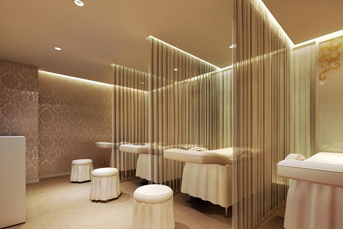 现代简约美容院室内装潢设计效果图