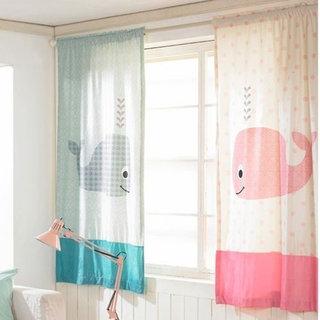 粉嫩窗帘设计