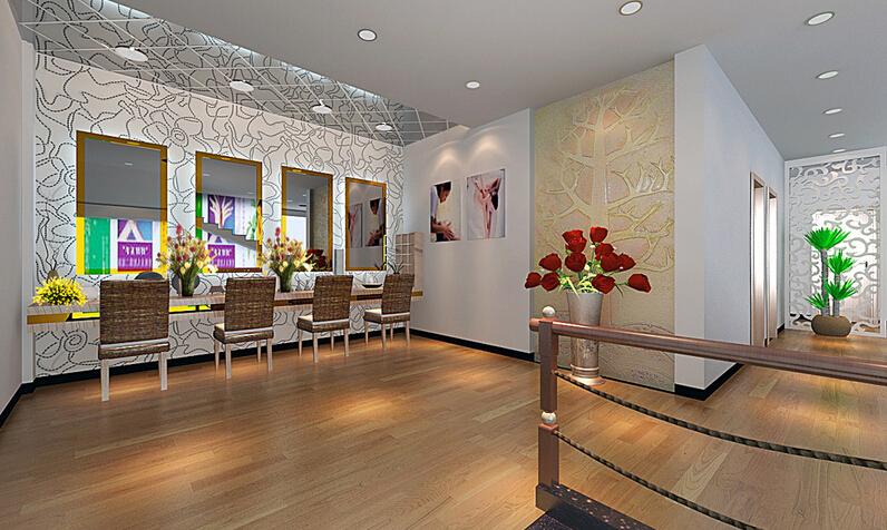 经典美容院室内设计效果图