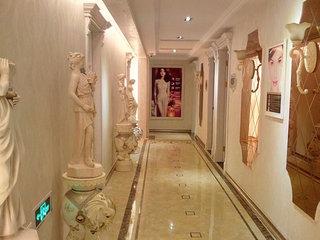 美容院室内走廊设计效果图