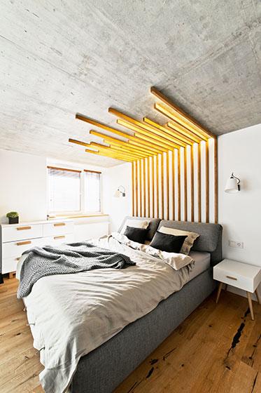 85平米loft效果图卧室窗户设计