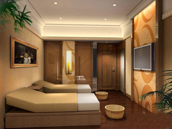 美容院单间设计效果图片