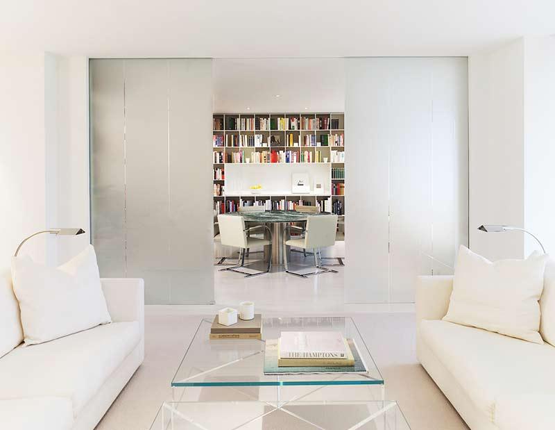 简约风格公寓白色80平米设计图