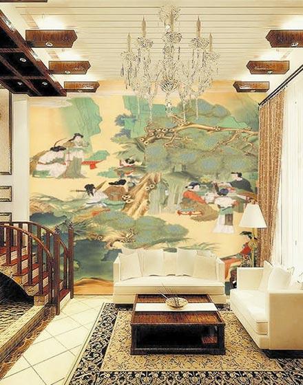 另类壁纸展现墙上中国风