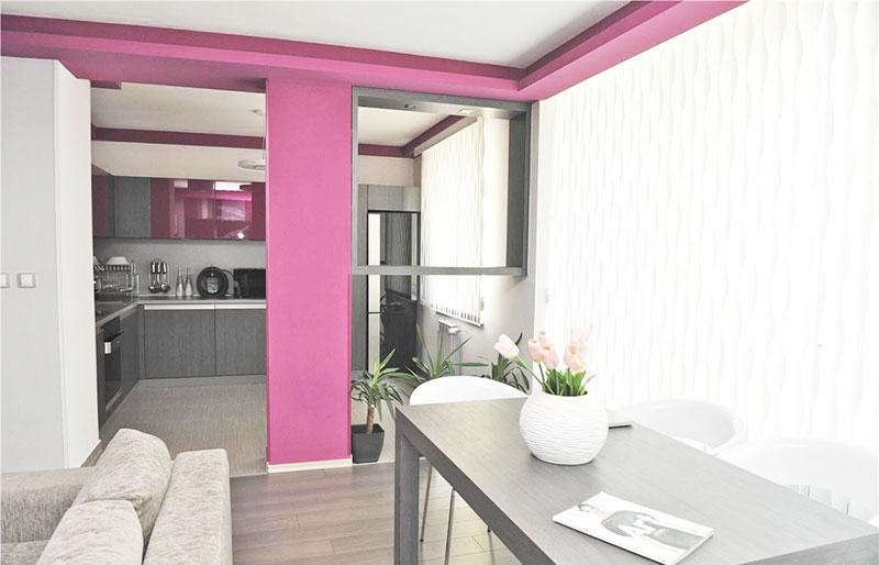 90平方装修效果图餐厅厨房设计