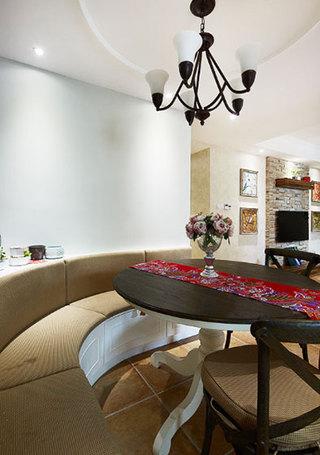 85平米装修效果图餐厅卡座设计