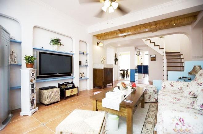 11图三室两厅装修 地中海风格小复式_齐家网装修效果图图片