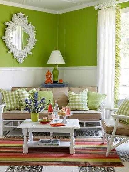 绿色森系客厅装修