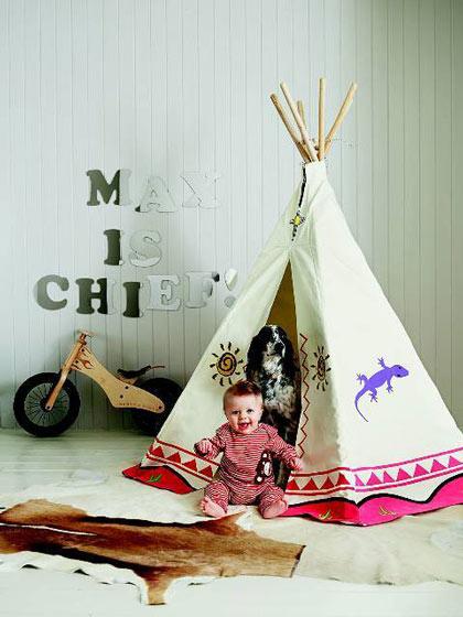 美式儿童帐篷效果图