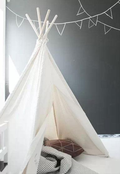 黑白儿童帐篷效果图