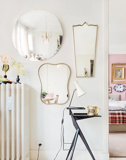 镜子墙变身玄关最好装饰品