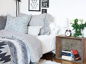 13个单身公寓卧室床头 简洁温馨是王道