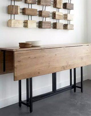 复古小户型墙面折叠餐桌