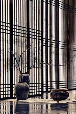 经典中式屏风图片