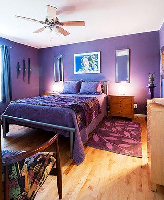 紫罗兰北欧风卧室装饰效果图