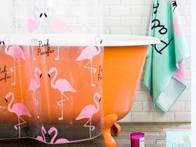甜美缤纷色彩 打造北欧卫生间好气色