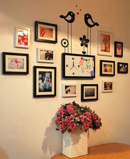 可爱的照片墙效果图