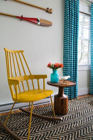 色彩窗帘效果图