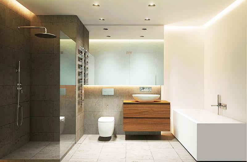 舒适现代简约风洗手间效果图