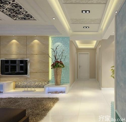 客厅走廊吊顶设计 打造不一样的空间感图片
