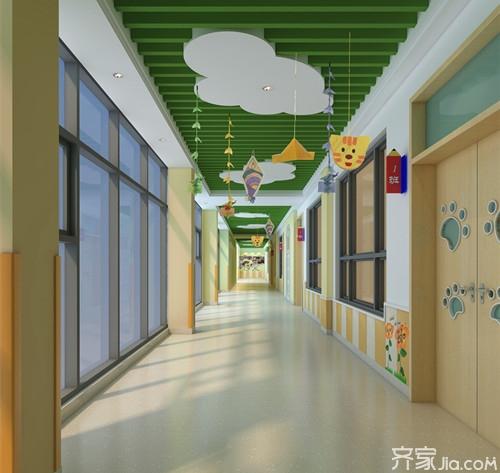 幼儿园走廊设计之地面图片