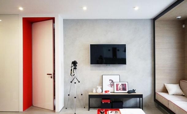 简约风格效果图客厅电视背景墙设计