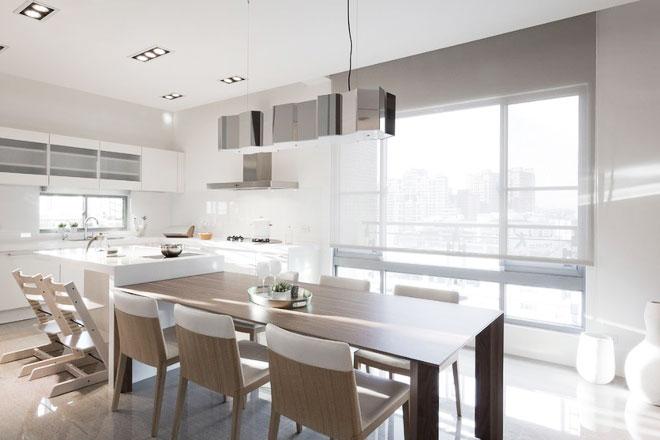 90平方米装修效果图餐厅厨房设计