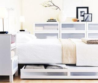 宜家白色收纳床效果图