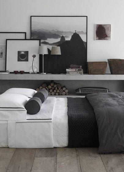 黑白小卧室设计