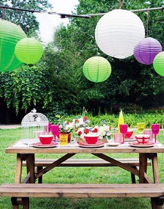室外聚会餐桌布置欣赏