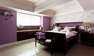 80平米美式乡村装修卧室设计