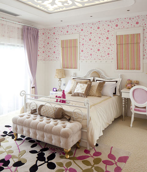 欧式华丽卧室床尾凳