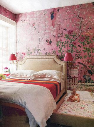 中式复古壁纸设计装修图片