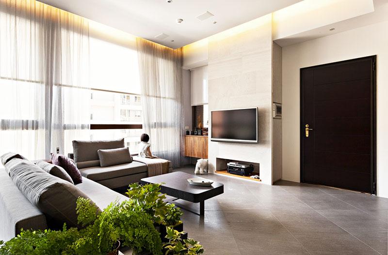 78平米简约设计效果图客厅电视背景墙设计