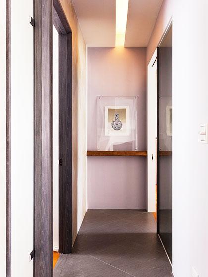 78平米简约设计效果图过道墙面设计