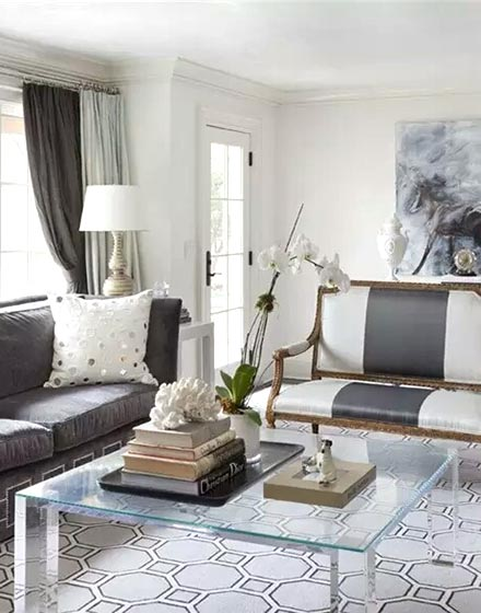 优雅与现代并存的简欧客厅